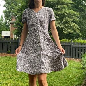 Talbots 90s Vintage Ditsy Floral Rayon Dress